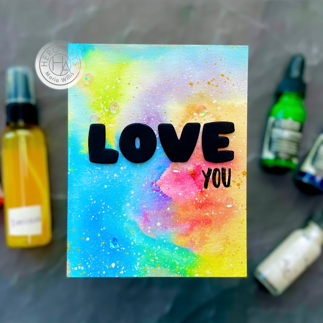 Cardbomb,maria willis,Hero Arts,video,video tutorial,watercolor,My Monthly Hero August 2021,cards, cardmaking, handmade, art, color, diy, stamps, stamping, ink, paper, papercraft, greeting cards