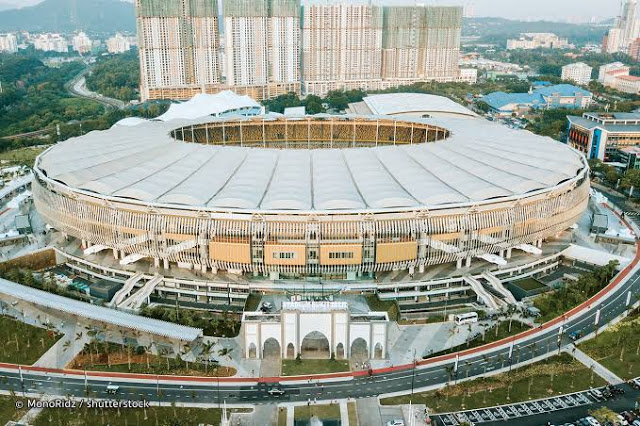 The Bukit Jalil National Stadium is the biggest football stadium in South East Asia