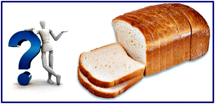 The good and bad nutritional properties of the white bread