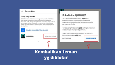 Cara Mengembalikan Teman Facebook Yang Sudah Diblokir