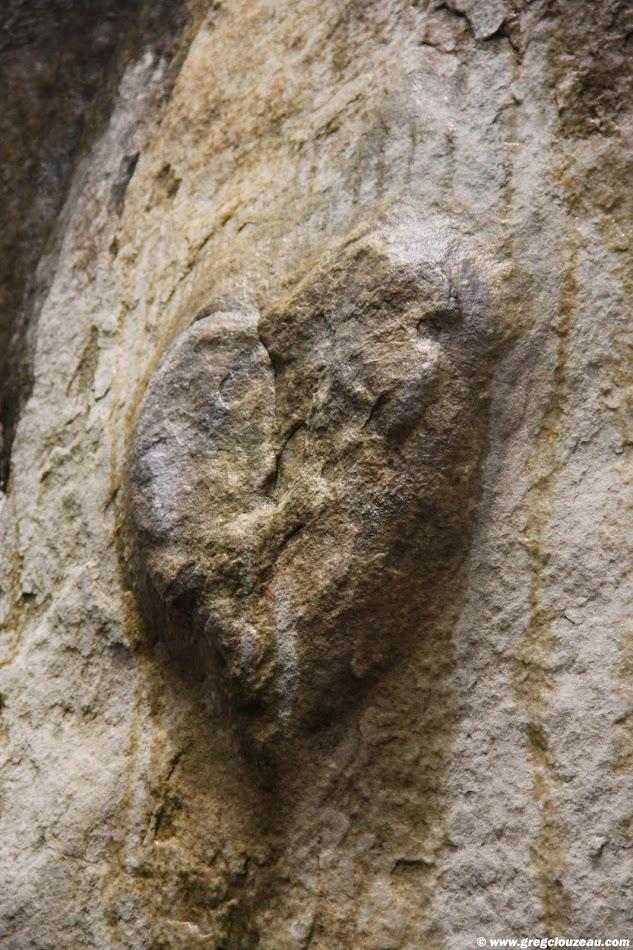 Le coeur, Grès de Fontainebleau, Rer de L'Eléphant, Larchant,