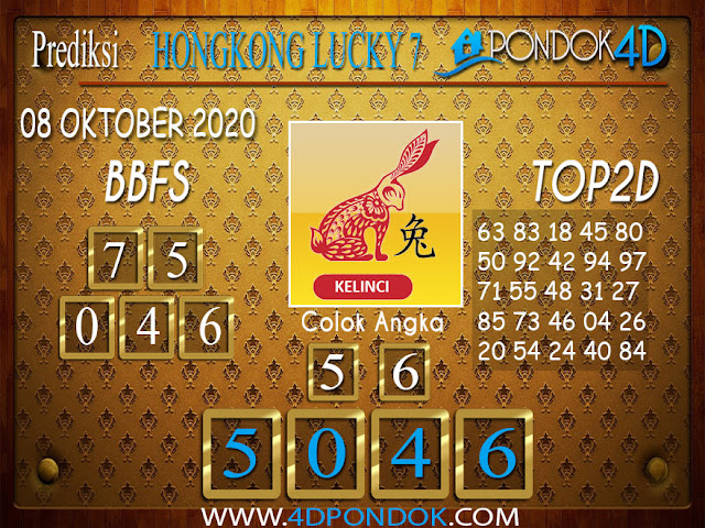 Prediksi Togel HONGKONG LUCKY 7 PONDOK4D 08 OKTOBER 2020