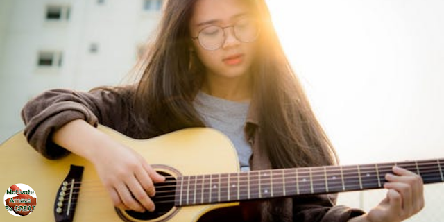 "Featured in the article: ""Music & Personality Development - Can Music Help Us Build Our Personality?"". Girl playing music, enhancing verbal memory, spatial reasoning and literacy skills"