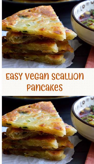 Easy Vegan Scallion Pancakes
