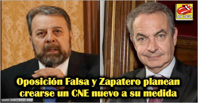 Oposición Falsa y Zapatero planean crearse un CNE nuevo a su medida