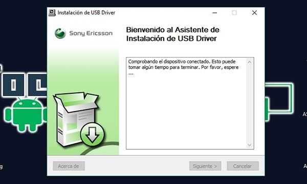 descargar controladores USB para Sony Ericsson