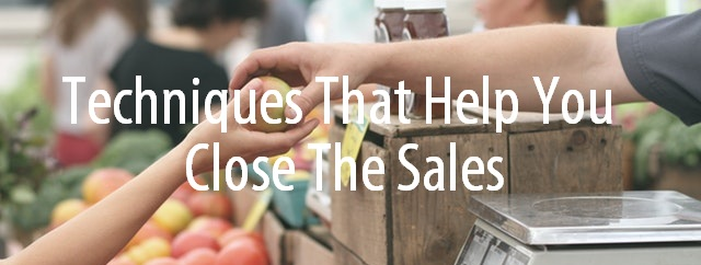 Techniques to close the sales
