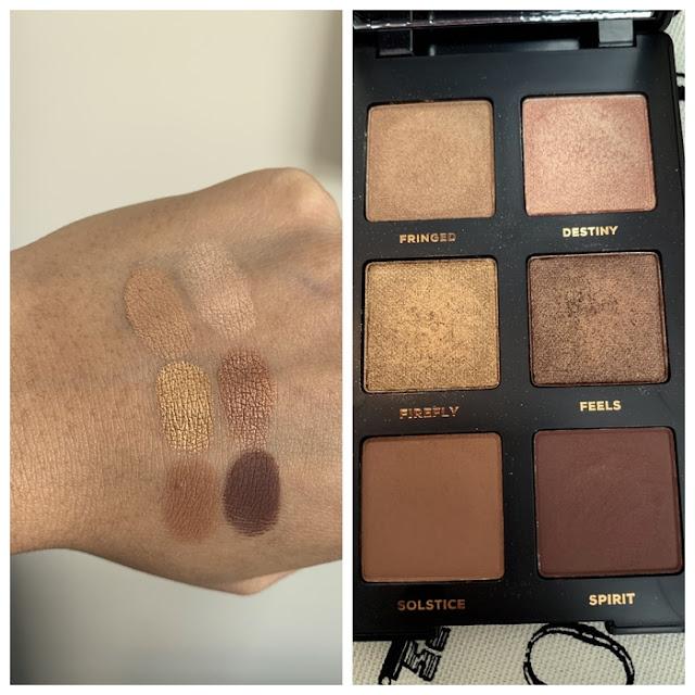 bareMinerals Gen Nude Latte Palette review and swatches on dark skin