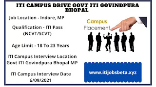 ITI Job Campus In Bhopal MP