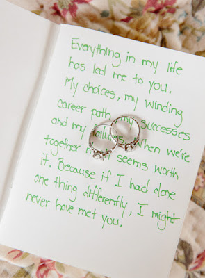 Wedding rings and handwritten vows for Jonna and Heather's Inn at West Settlement Wedding by Karen Hill Photography