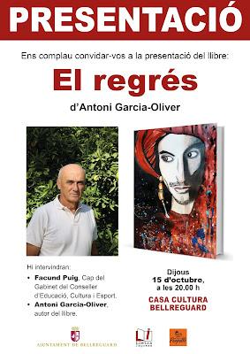 Presentació de la novel·la 'El regrés' a Bellreguard (15 d'octubre, dijous, 20.00 h)