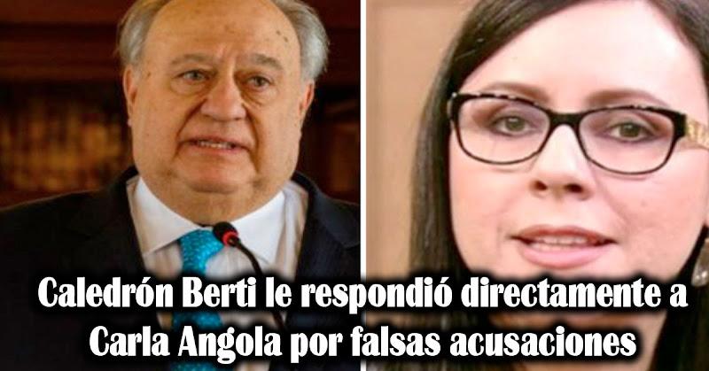Caledrón Berti le respondió directamente a Carla Angola por falsas acusaciones
