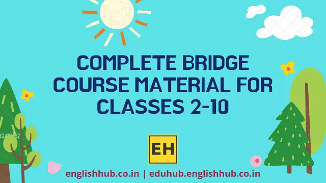 Bridge Course Pre-Test Papers, Post-Test Papers and Competencies for Classes 2-10