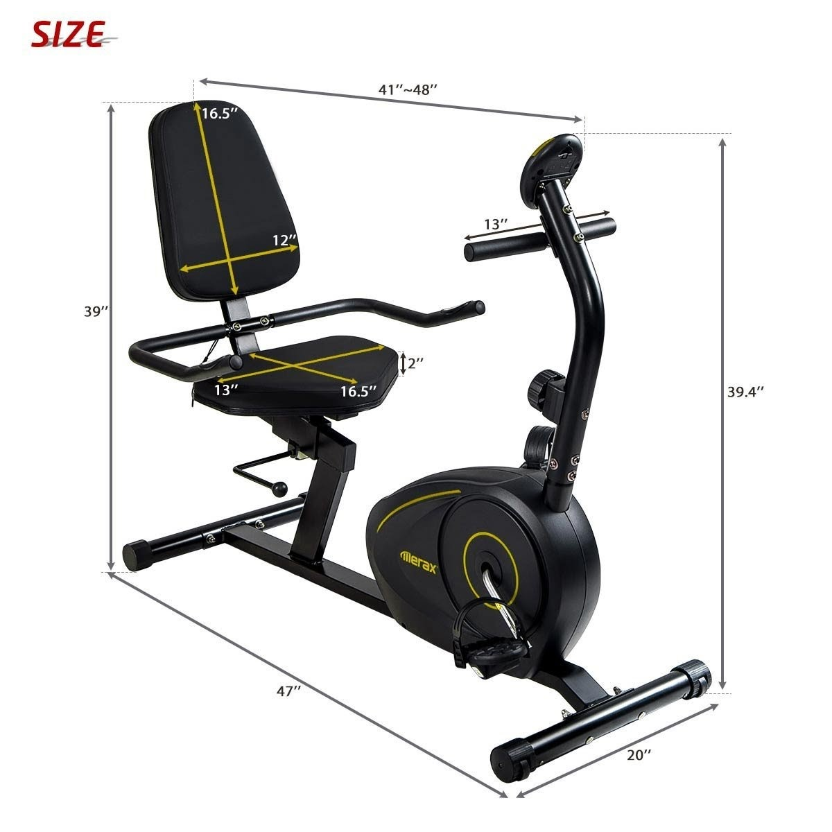 Exercise Bike Zone: Merax RB1020 Magnetic Recumbent