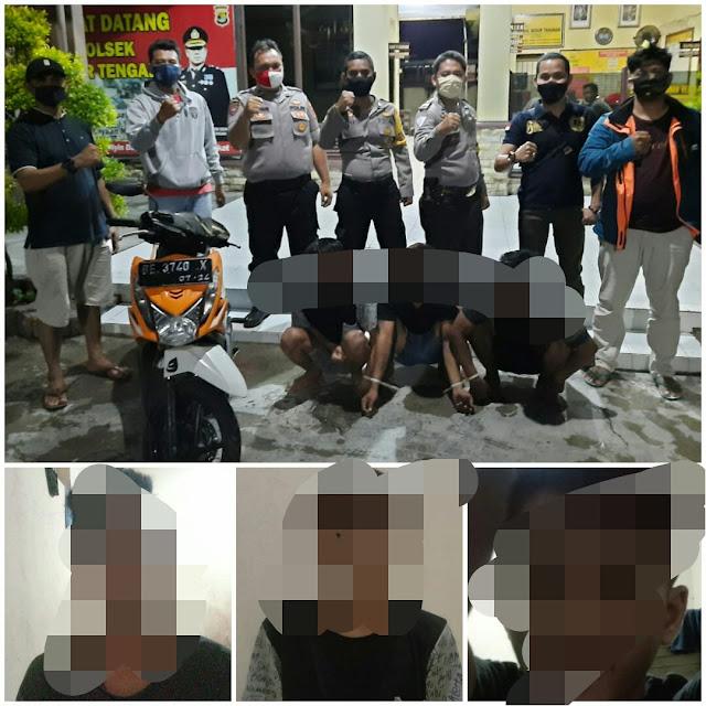 Tiga Tersangka Pelaku Curat di Pesisir Barat Diamankan Polisi