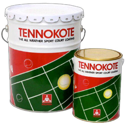 cat lapangan tenis tennokote
