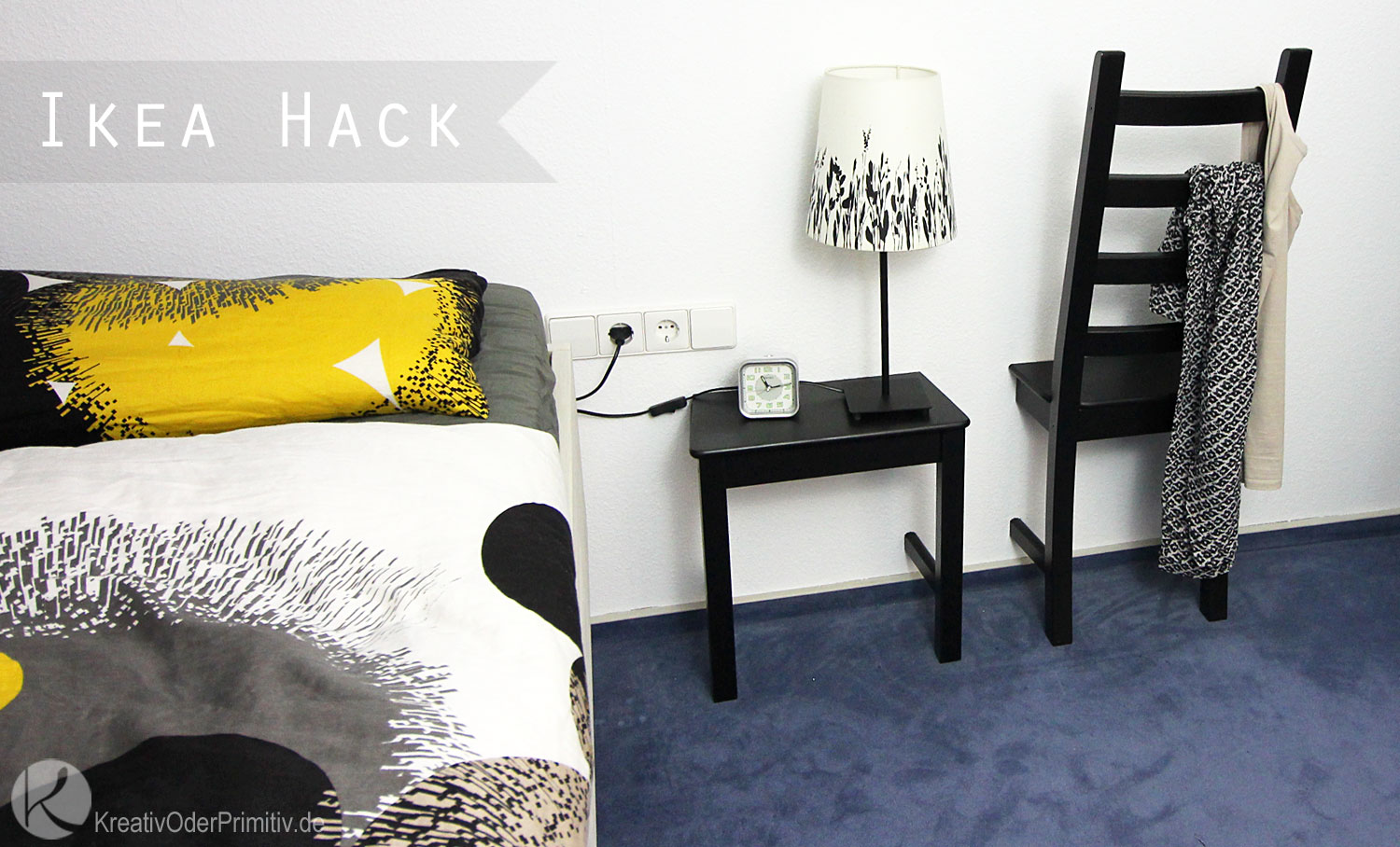 kreativ oder primitiv stuhl als herrendiener ikea hack. Black Bedroom Furniture Sets. Home Design Ideas