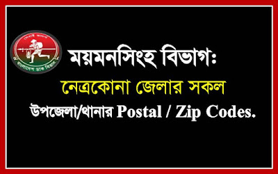 Postal codes of all the Upazilas/Thanas of Netrakona district.