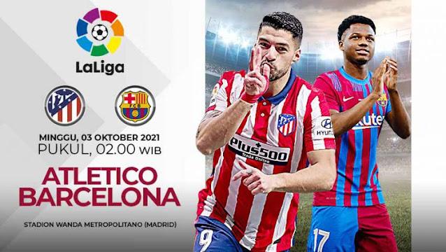 Prediksi Atletico Madrid vs Barcelona La Liga Spanyol
