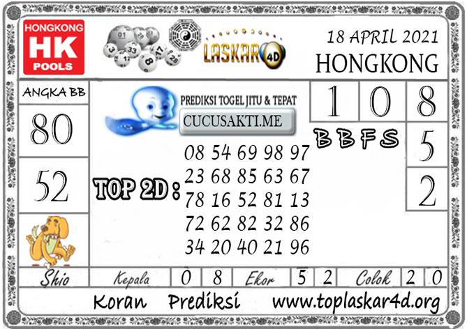 Prediksi Togel HONGKONG LASKAR4D 18 APRIL 2021