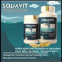Squavit 40 Softgel Squalene Deep Ocean Fish Liver Oil Paket 10 Botol
