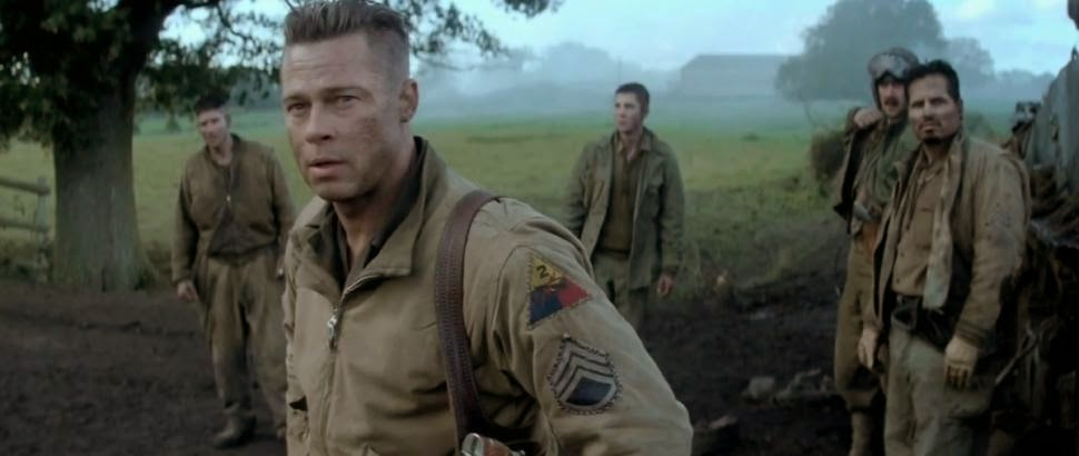 Fury: Brad Pitt, Logan Lerman, Michael Peña, Jon Bernthal | A Constantly Racing Mind