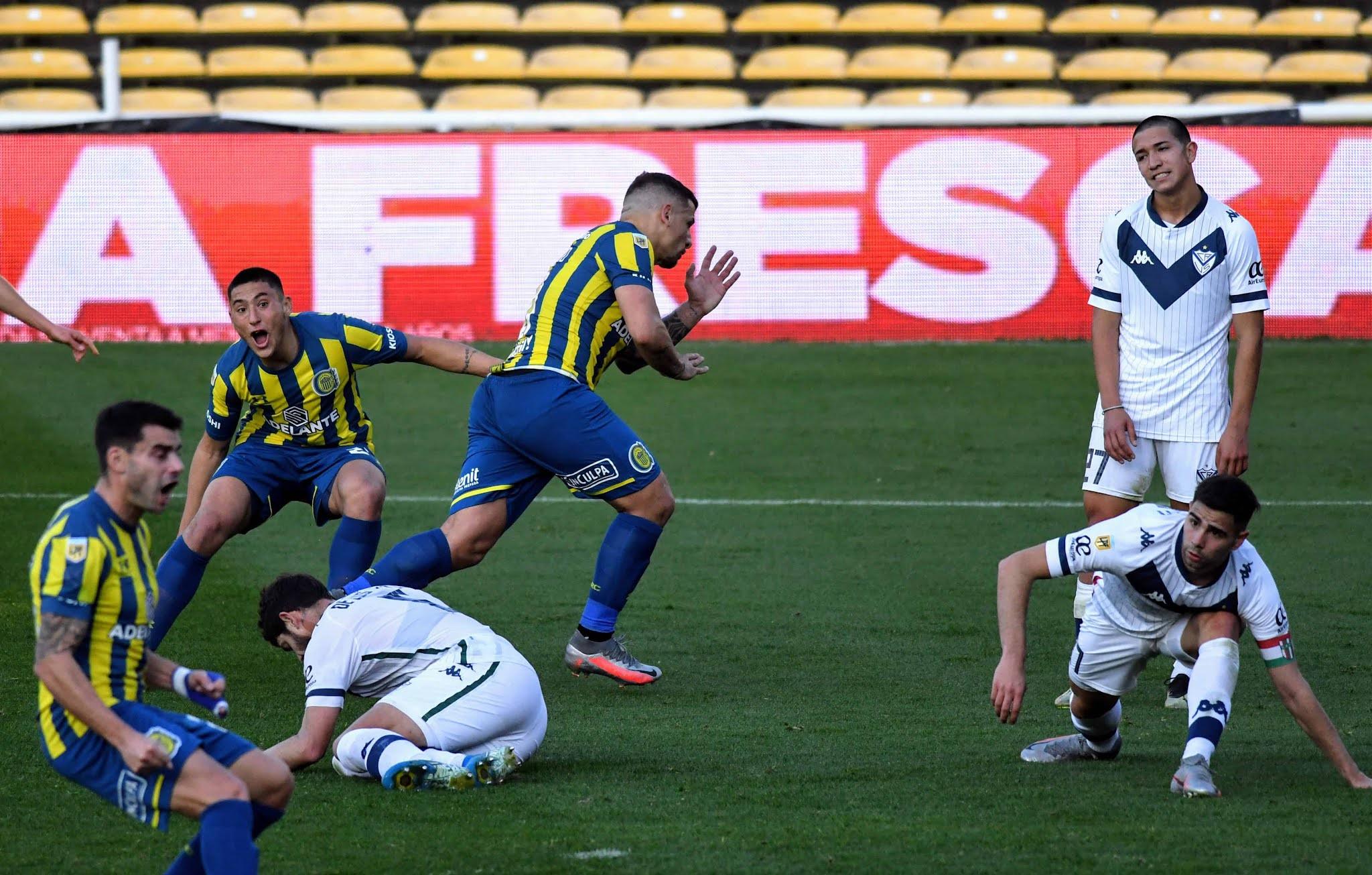 Rosario Central venció a Vélez con un golazo de Vecchio en el descuento