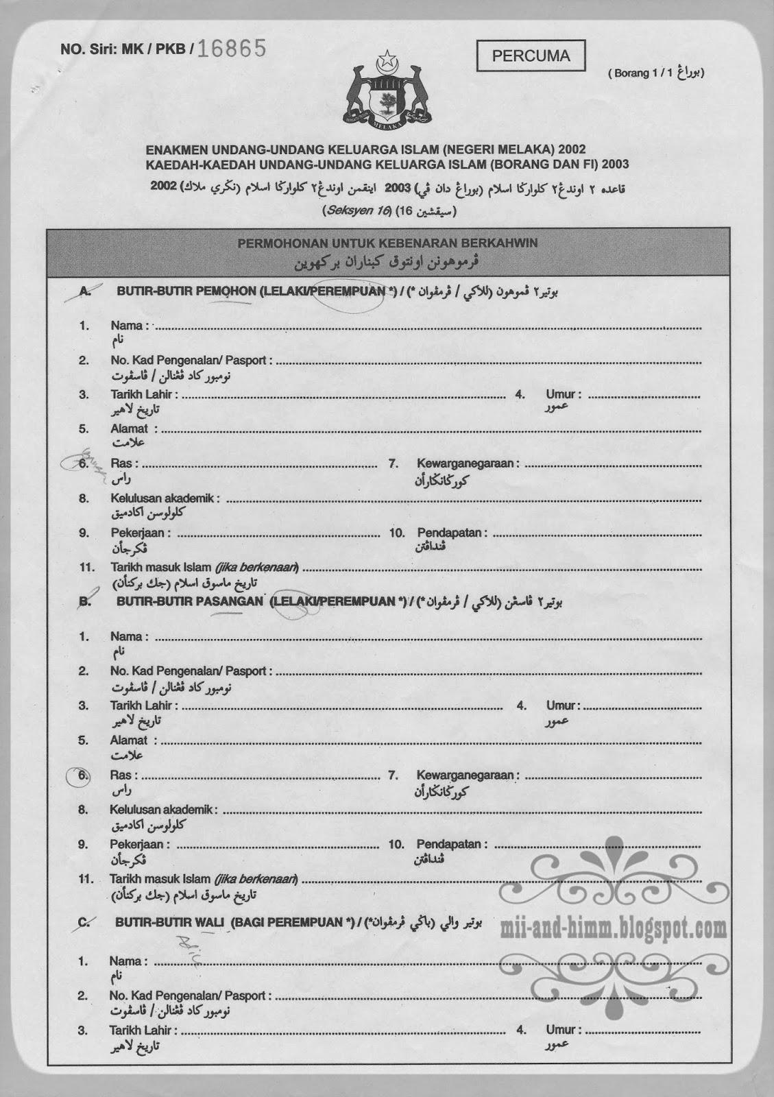 De Ef Jay Persiapan 3 Dokumen Dan Prosedur Kahwin