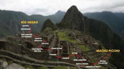 Ruta Selva Machu Picchu, Selva central-Machu Picchu, Macchu Picchu desde al Vraem