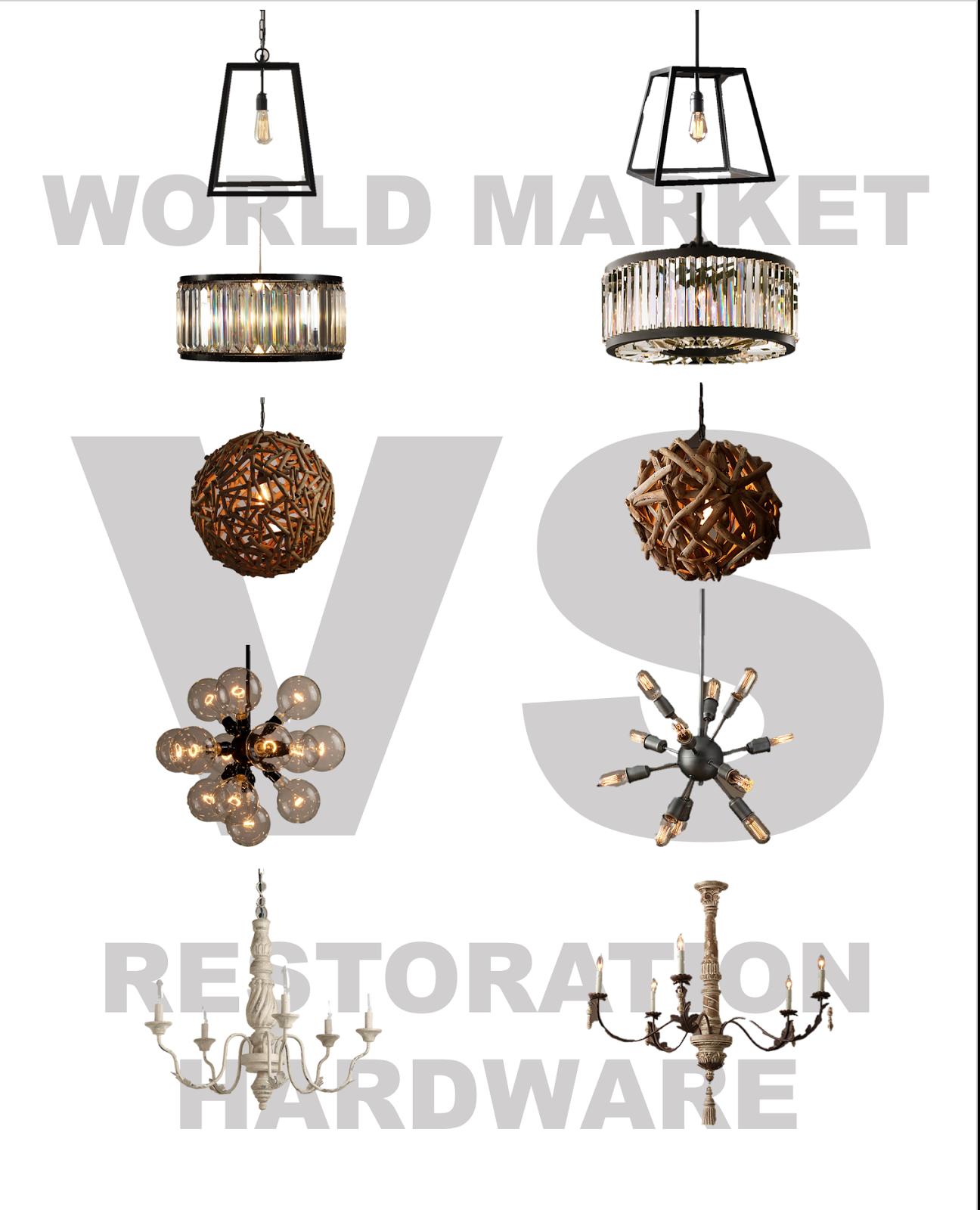 Restoration Hardware Lighting For Less: {Jessica Stout Design}: World Market Vs. Restoration