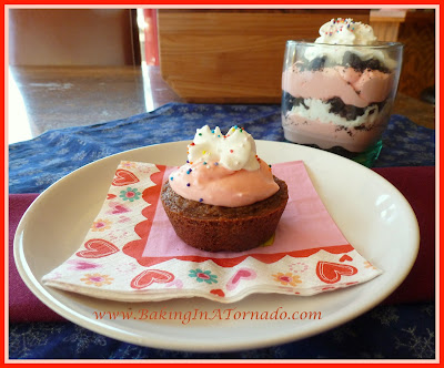 Strawberry Filled Cookie Cups and Parfait | recipe developed by www.BakingInATornado.com | #recipe #dessert
