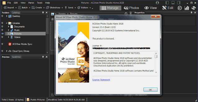 Screenshot ACDSee Photo Studio Home 2020 v23.0 Build 1323 Full Version
