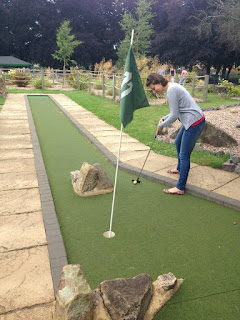 Adventure Golf course in St Nicholas Park, Warwick