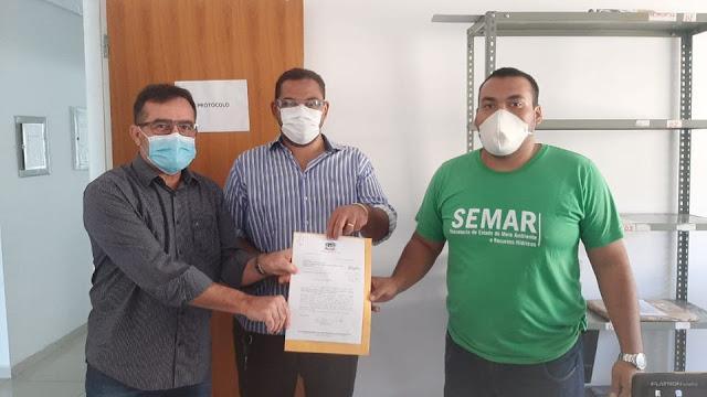 Prefeitura da cidade de Oeiras protocolou a entrega do dossiê do ICMS Ecológico 2020 na Secretaria Estadual do Meio Ambiente e Recursos Hídricos (Semar).