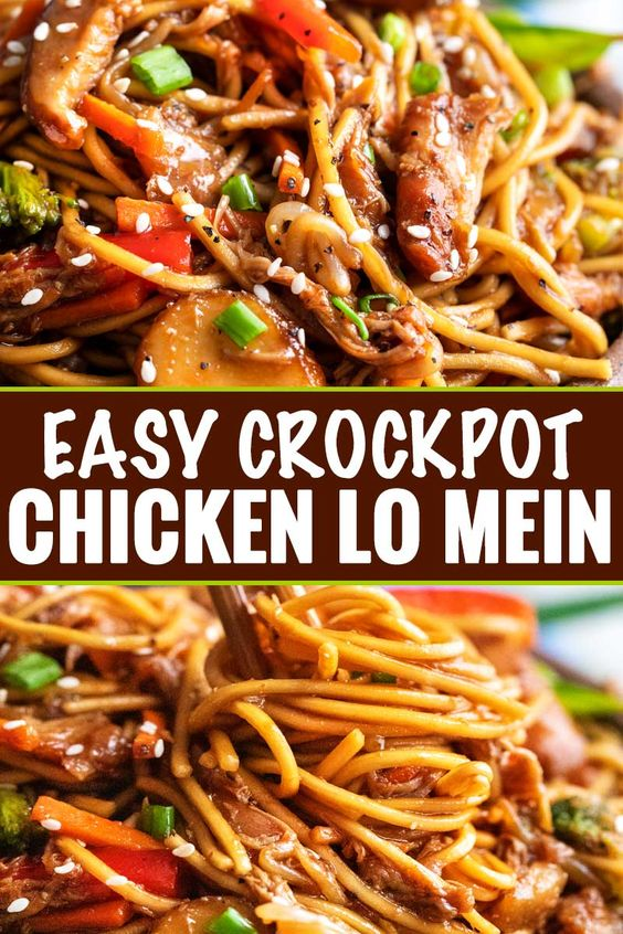 Easy Delicious Crockpot Chicken Lo Mein Recipe