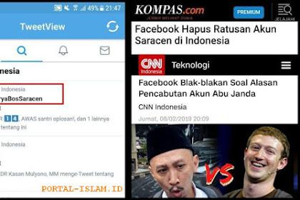 Facebook Hapus Ratusan Akun Saracen di Indonesia Termasuk Abu Janda (Permadi Arya), Tagar #PermadiAryaBosSaracen Jadi Trending Topik No.1 Twitter