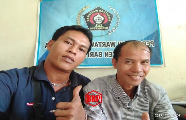 Baritorayapost Sanggongi PWI Bartim untuk Jalin Kebersamaan