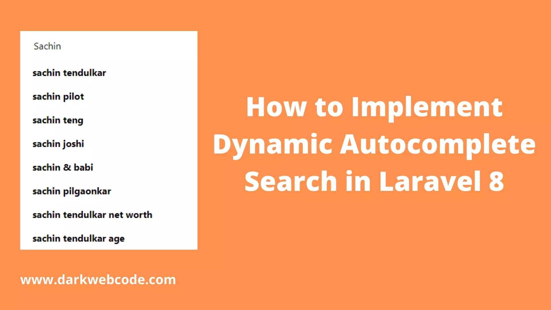 How to Implement Dynamic Autocomplete Search in Laravel 8