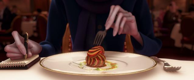 Anton Ego Eating Ratatouille Pixar