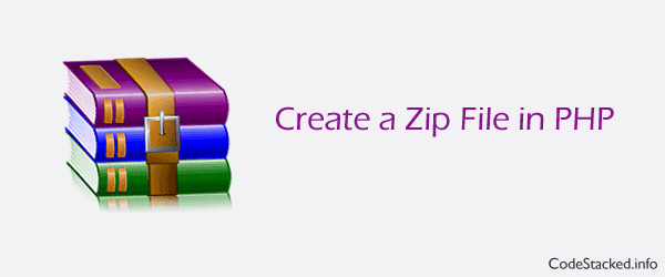 Create a Zip File in PHP