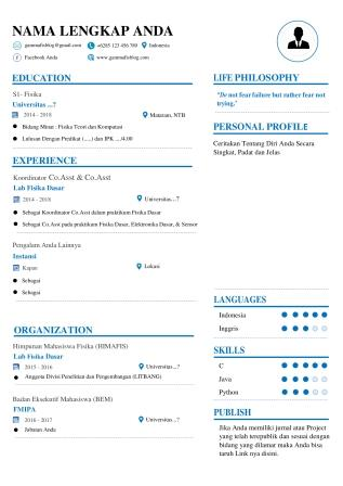 Free Download Template CV Word Fresh Graduate
