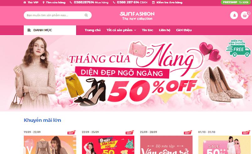 Template blogspot bán hàng thời trang Fashion