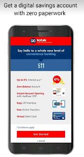 Kotak bank mobile app