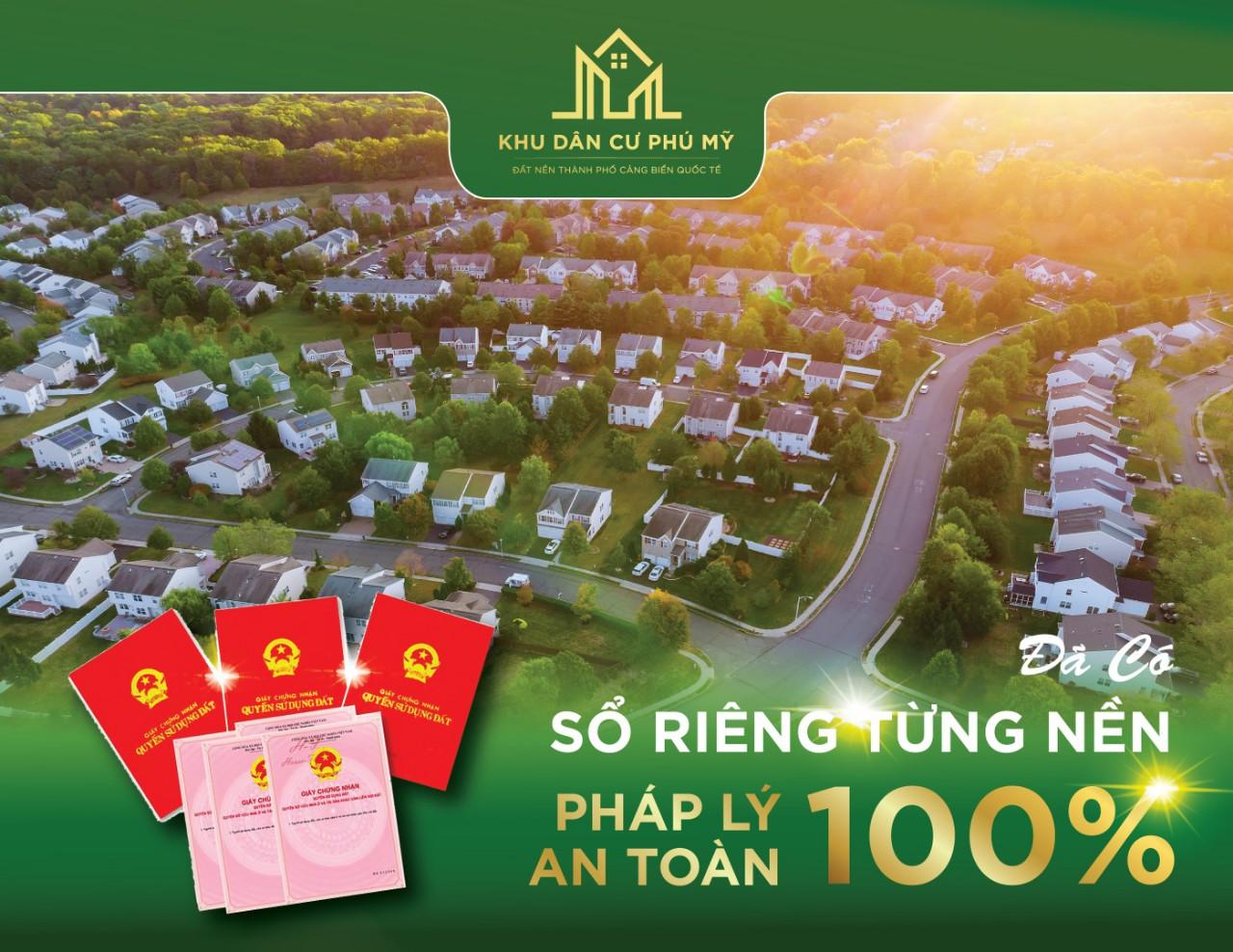 Khu dân cư Sông Xoài Phú mỹ mặt tiền đường 60m giá chỉ 5tr/m2