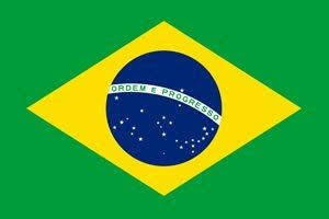 A foto mostra a magestosa Bandeira Nacional do Brasil.