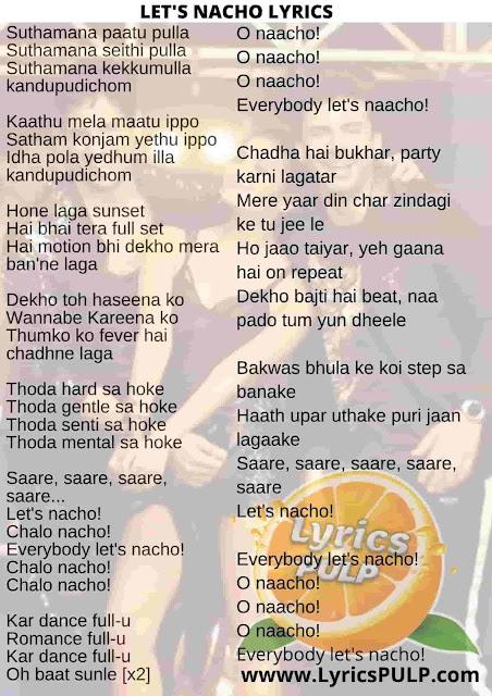 Let's Nacho Lyrics   Kapoor And Sons - Badshah, Benny Dayal