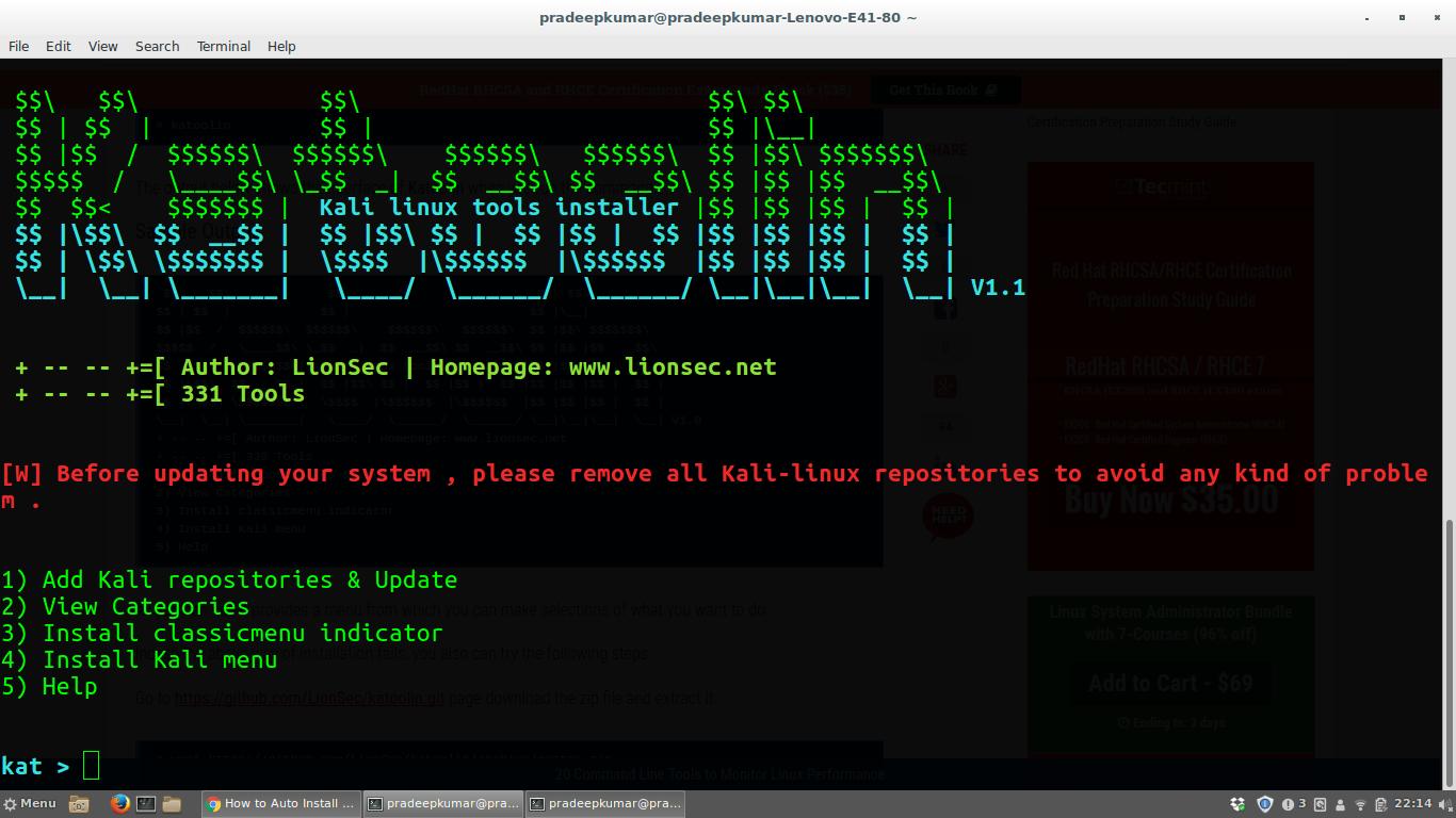 Network Simulators: Installing Kali Linux Tools in Ubuntu or