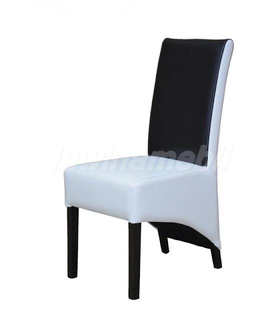 Czarne krzesło z ekoskóry