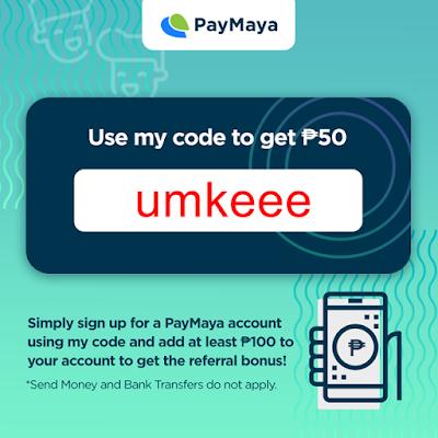 """PayMaya Referral Code """"umkeee"""""""