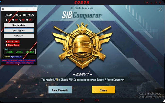 Smartgaga Vip Bypass Free |safe bypass| pubg mobile 1.3.0